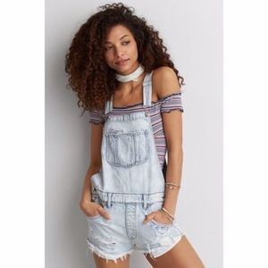 American Eagle Outfitters AE Short Overalls